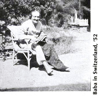 Photo of Baba in Switzerland, 1952